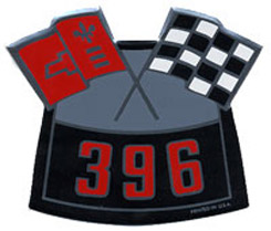 AIR CLEANER DECAL, 396 CROSS FLAG
