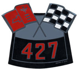 AIR CLEANER DECAL, 427 CROSS