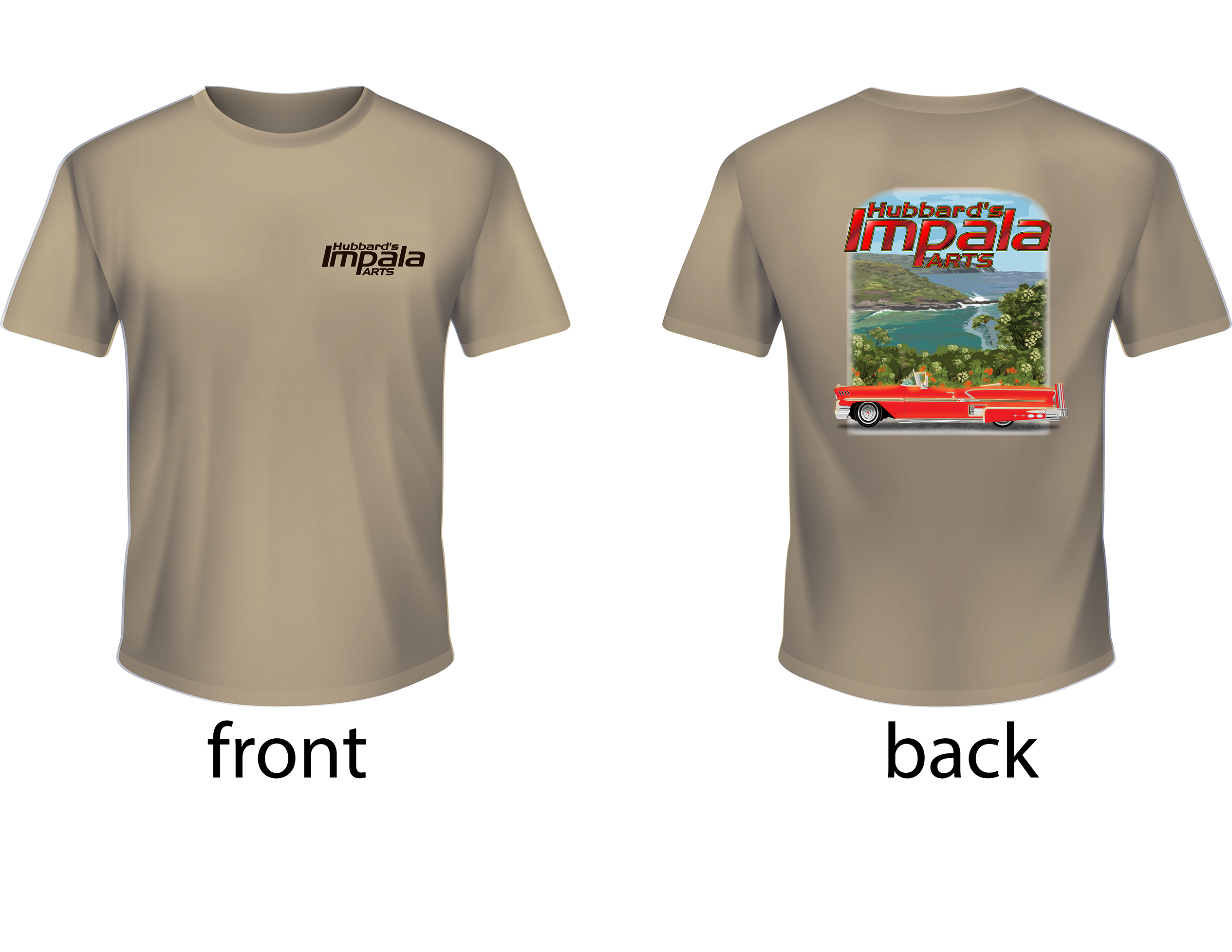 HUBBARDS IMPALA PARTS T-SHIRT 2019, XL TAN