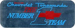 VALVE COVER DECAL, TONAWANDA NUMBER 1 TEAM