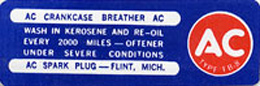 1964-67 CRANKCASE BREATHER DECAL