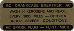 1959-63 CRANKCASE BREATHER DECAL