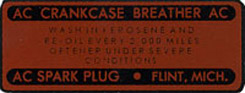 1958 CRANKCASE BREATHER DECAL