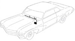 1964 A/C POWER FEED WIRE, 6 cyl., solenoid to in-line fuse in AC harness