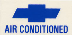 1966-67 AIR CONDITIONED DECAL