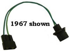 1963 BACKUP LAMP EXTENSION, manual trans., dash harness to backup switch        Note:   Connects to lead wires from trans mounted backup switch