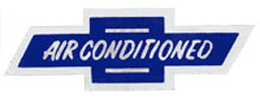 1962-65 AIR CONDITIONED DECAL