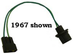 1959-1960  BACKUP LAMP SWITCH EXTENSION HARNESS, FLOOR SHIFT, M/T, FUSEBOX TO BACKUP SWITCH & REAR BODY HARNESS