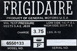 1963-65 AIR COND. COMPRESSOR DECAL