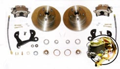 "1958-64 FRONT DISC BRAKE CONVERSION, SMALL BLOCK (for use with 15"" or larger wheels) (kit)"
