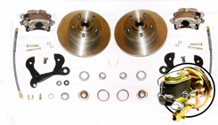 1958-64 FRONT DISC BRAKE CONVERSION (for use with 14 inch wheels) (kit)