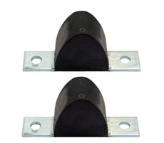 1958-64 FRONT CONTROL ARM BUMPERS, LOWER  (pr)