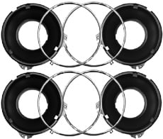 headlight bezels 72 Impala On 24 1958 1966 headlight mounting bucket ring
