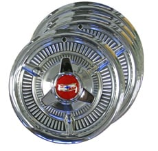 1958 HUBCAPS WITH SPINNERS. REFURBISHED 14""