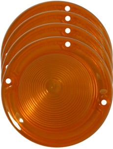 1958 PARKING LIGHT LENS, AMBER