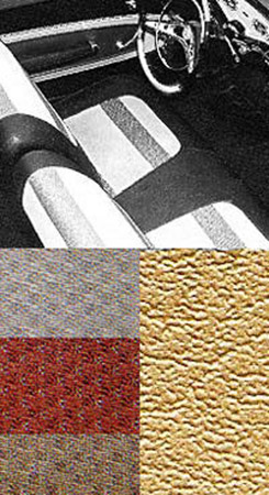 1958 SEAT COVERS, BENCH/REAR, 2 DR HT, GOLD IMPALA (W/GOLD, BEIGE & COPPER CLOTH INSERTS)