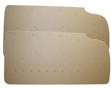 1959-60 DOOR PANEL BOARDS, FRONT, 2 DR. HT. & CONV.