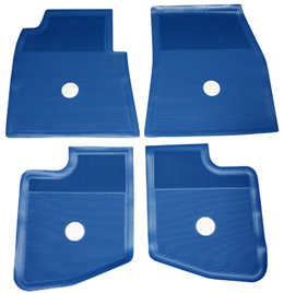 1959 60 Original Floor Mats Blue Rubber Set Of 4