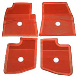 1959 60 Original Floor Mats Red Rubber Set Of 4
