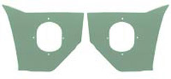 1959-60 KICK PANELS, LT GREEN