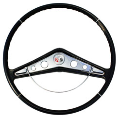 "1959-60 STEERING WHEEL KIT, IMPALA, 17"" (INCLUDES HORN RING,MOUNT HARDWARE AND EMBLEM)"