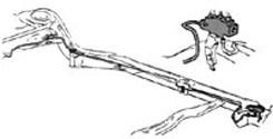 1959-64 FRONT TO REAR BRAKE LINE (ea)