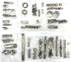 1959-64 FRONT SUSPENSION BOLT KIT, STAINLESS STEEL (set)