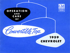 1959 CONVERTIBLE TOP MANUAL