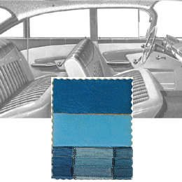 1959 DOOR PANELS, FRONT/REAR, 4 DR HT, BLUE