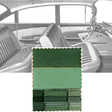 1959 DOOR PANELS, FRONT/REAR, 4 DR HT, GREEN