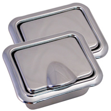 1960-67 REAR ASHTRAYS 2 DR HT & CONV. (ASH TRAYS & BEZELS)