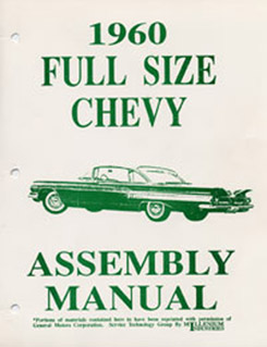 1960 ASSEMBLY MANUAL (ea)