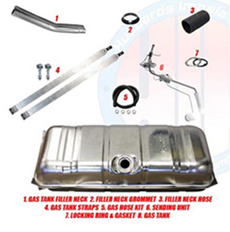 1961-63 GAS TANK KIT, STAINLESS STEEL,  SMALL BLOCK