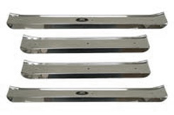 1961-64 DOOR SILL PLATES, 4 DR W/SCREWS
