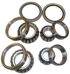 1961-68 FRONT WHEEL BEARING SET W/SEALS. stock drum brakes (must use 61-68 hub on 58-60 models) (set)