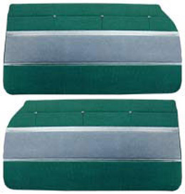 1961 DOOR PANELS, FRONT/REAR, 2 DR HT, GREEN
