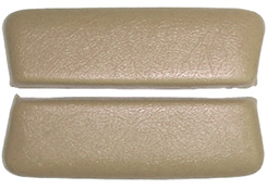 1962-63 ARM REST PADS, REAR, BEL AIR, FAWN