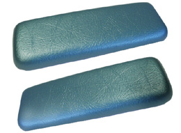 1962-64 ARM REST PADS, REAR, BEL AIR, AQUA