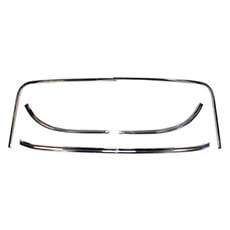 1962-1964 EXTERIOR REAR GLASS MOULDING, 2 DR HT