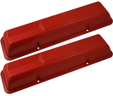 1962-66 VALVE COVERS, PAINTED, SMALL BLOCK 327