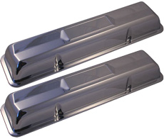 1962-66 VALVE COVERS, CHROME, SMALL BLOCK 327