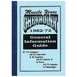 1962-72 GENERAL INFORMATION GUIDE (ea)