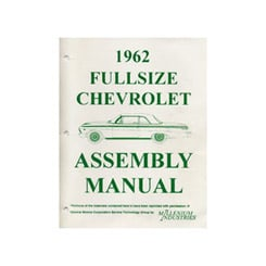 1962 ASSEMBLY MANUAL (ea)