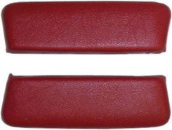 1962 ARM REST PADS, REAR, BEL AIR, BRIGHT RED