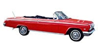 1962 GLASS SET, CONVERTIBLE, TINTED (set)