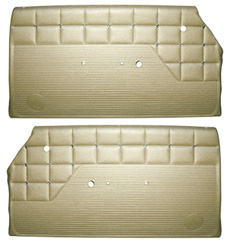 1962 DOOR PANELS, FRONT/REAR, 2 DR HT, GOLD