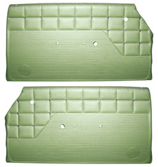 1962 DOOR PANELS, FRONT/REAR, 2 DR HT, GREEN