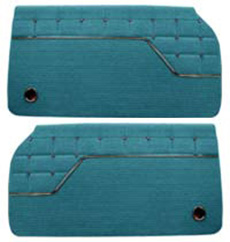 1962 DOOR PANELS, FRONT/REAR, 4 DR HT, IMPALA, AQUA