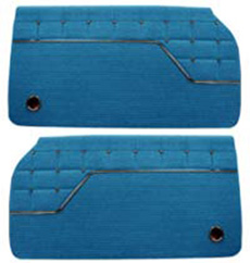 1962 DOOR PANELS, FRONT/REAR, 4 DR HT, IMPALA, BLUE