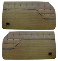 1962 DOOR PANELS, FRONT/REAR, 4 DR HT, IMPALA, FAWN